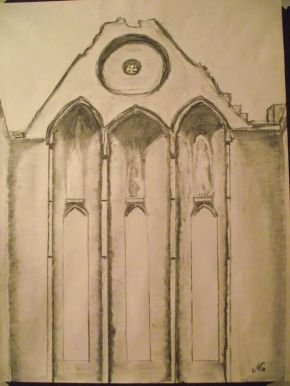 rock of cashel drawing